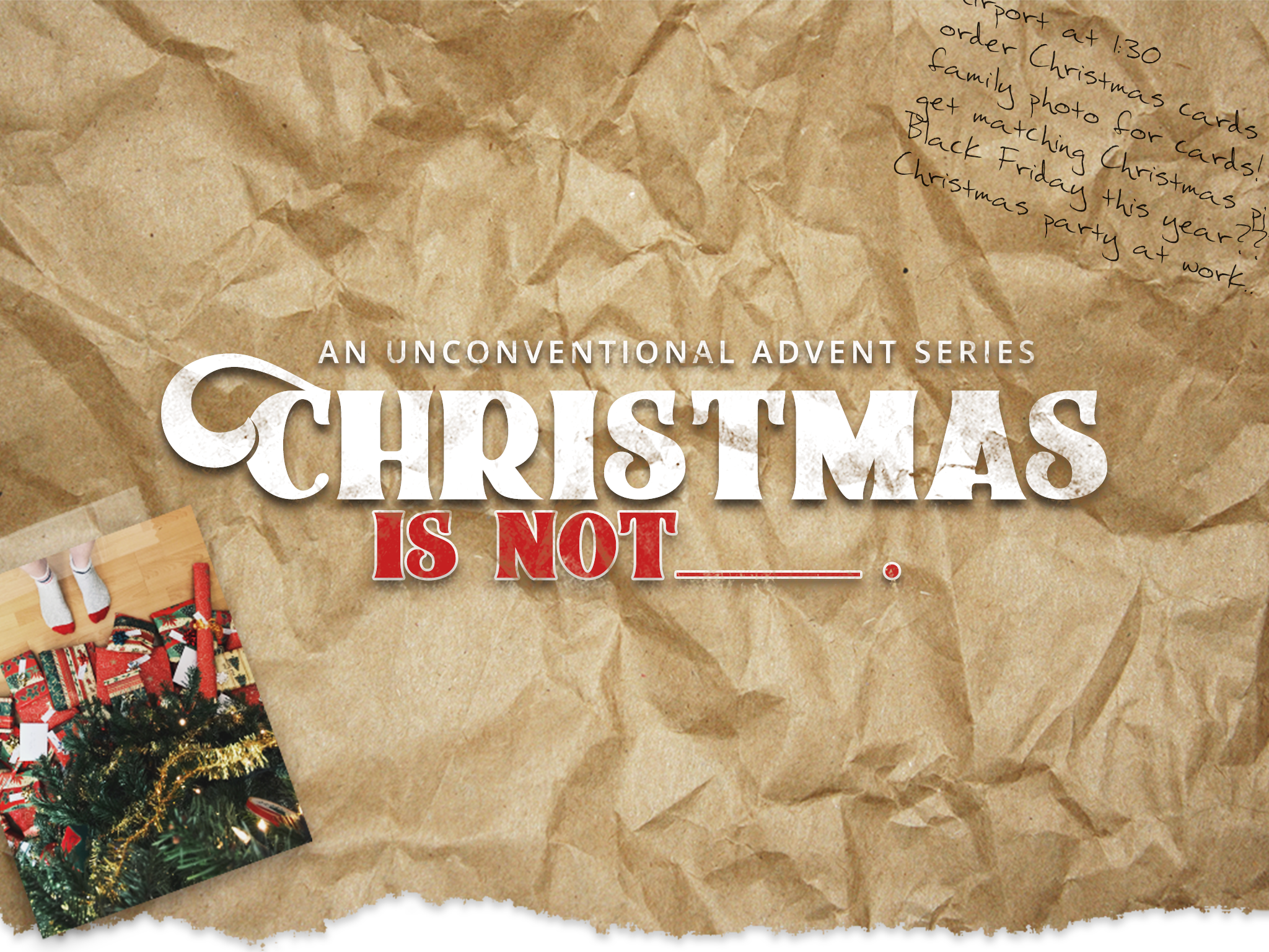 Christmas is Not….A Silent Night